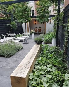 Small Backyard Landscape Desi… Small Backyard Landscape Design to Make Yours Perfect Beautiful Addition To Every House, fences for the terrace, see them, and you might. The post Small Backyard Landscape Desi… appeared first on Welcome! Back Gardens, Small Gardens, Outdoor Gardens, Small Backyard Landscaping, Backyard Patio, Landscaping Ideas, Courtyard Landscaping, Patio Bench, Patio Wall