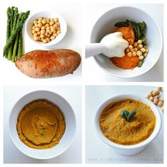 """Asparagus, chickpea & sweet potato purée I would serve this at [7m+] such a creamy purée.  Ingredients: -1 big sweet potato - 2 tbsp of pre boiled chick…"""