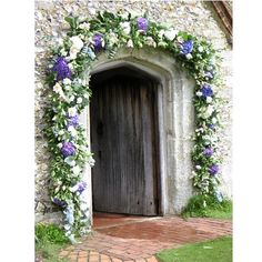 Arch with flower and green for a chapel