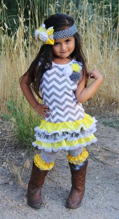 Yellow Grey Chevron Sparkle In Pink Dress- (BACK IN STOCK 10/15) - Boutique Outfits - Products