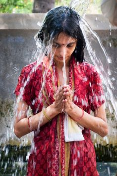 Portrait of India - water is used in so many religions and sacred ceremonies around the world: water is more than for drinking, it is sacred.
