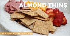 **M approved** Almond Thins | healthylivinghowto.com