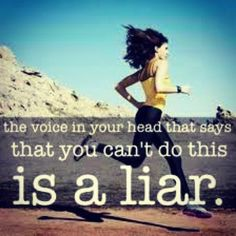Don't let the voice in your head take over! #exercise #goal #motivation #inspiration #fitness #training #running #runner #run #gym #workout #quotes