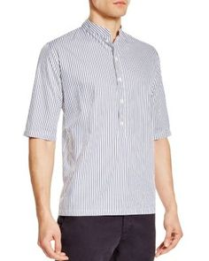 Pierre Henri Mattout Tunique Stripe Regular Fit Elbow Sleeve Shirt | Bloomingdale's