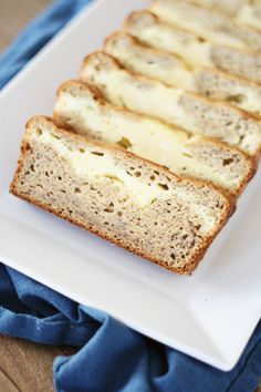 Cream Cheese-Filled Banana Bread  Trying this right now.