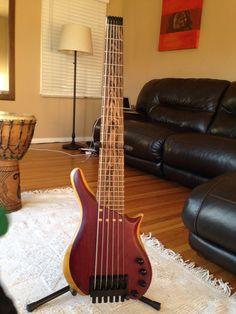Anthony Custom Bass 6-string headless bass