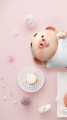 Pig Wallpaper, Disney Wallpaper, Iphone Wallpaper, This Little Piggy, Little Pigs, Kawaii Pig, Cute Piglets, 3d Art, Pig Drawing