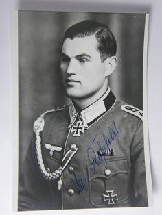 Postwar signed Knight Cross winner OFW. Christian Rossfeld