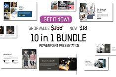 88% OFF - Bundle 10 in 1 Powerpoint by Spesifikdesign on @creativemarket