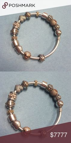 how many charms fit on a 19cm pandora bracelet