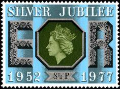 Stamp commemorating the Silver Jubilee of Queen Elizabeth II, 1977 - 8.5p value.