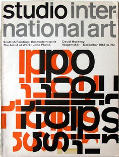 Magazine Studio International Art, design: David Pelham / 1963