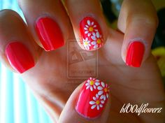 Daisies by bl00dflowerz from Nail Art Gallery