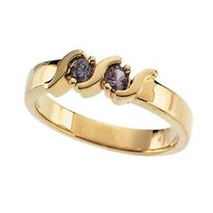 Two Stone Mothers Family Birthstone Ring