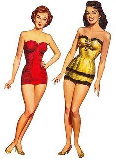 Ladies    paper dolls