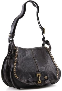 Campomaggi Lavata Shoulder Bag Leather black 30 cm - C1217VL-2000 | Designer Brands :: wardow.com