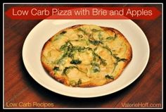 Low Carb Pizza with Brie, Apples and Arugula