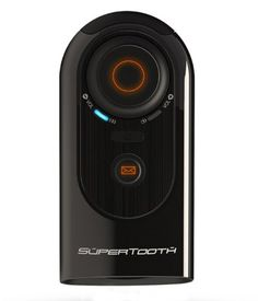 SuperTooth High Definition Bluetooth Portable Visor Car Kit and Speakerphone for Cell Phones, iPad 2, and iPhone Retail Packaging (Black)
