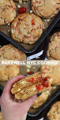 Cherry Cookies, Almond Cookies, Yummy Cookies, Giant Cookies, White Chocolate Chips, Best Chocolate, Baking Recipes, Cookie Recipes, Janes Patisserie