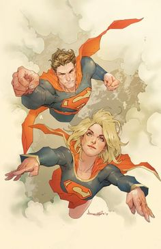 Superman and Supergirl by Barnaby Bagenda