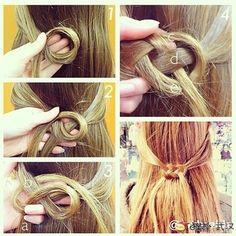 Infinity knot hair