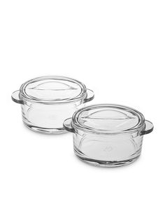 Set of two dishes made of pressed glass. Made by la Rochere. 25 cl