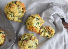 Savory sausage egg and cheese muffins are the perfect all in one breakfast on the go! Made with eggs, sausage, spinach, cheddar cheese, and chives. Egg Recipes For Breakfast, Breakfast On The Go, Savory Breakfast, Breakfast Dishes, Best Breakfast, Brunch Recipes, Breakfast Muffins, Breakfast Ideas, Breakfast Sandwiches