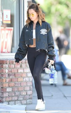 Ready to sweat! Ashley Tisdale, 31, took time out on Friday for a workout in Los Angeles...