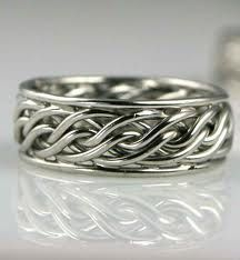 braided mens ring
