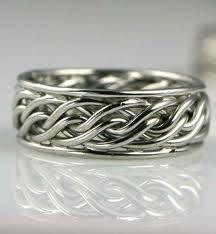 braided mens ring