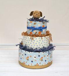 Sports Diaper Cake Sports Baby Shower Boy Baby by babyblossomco