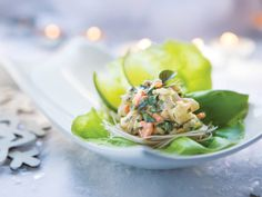 These Basil Shrimp and Glass Noodle Lettuce Cups give a pop of fresh flavour to cold winter days.