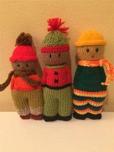 Resultado de imagen de Comfort Dolls Knitting Patterns Loom Knitting, Knitting Stitches, Knitting Designs, Baby Knitting, Knitting Patterns, Knitted Dolls, Crochet Dolls, Knitted Hats, Amigurumi Patterns
