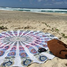 Mandala Beach Throw by on Etsy Beachwear For Women, Beach Mat, Sailing, Mandala, Outdoor Blanket, Comfy, Pink, Etsy, Candle