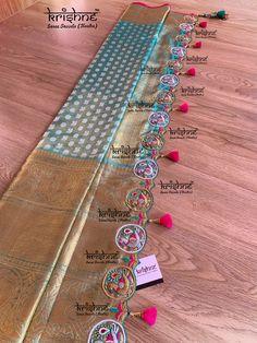 Saree Tassels Designs, Saree Kuchu Designs, Wedding Saree Blouse Designs, Pattu Saree Blouse Designs, Fancy Blouse Designs, Lehenga Saree Design, Half Saree Lehenga, Saree Trends, Silk Sarees