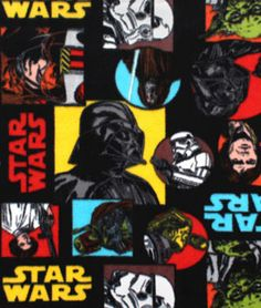 Shop  Star Wars Pop Art Fleece Fabric at onlinefabricstore.net for $9.85/ Yard. Best Price & Service.