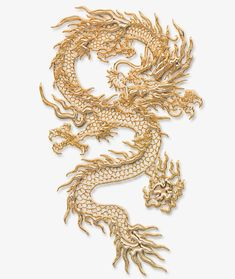 Gold Dragon Wallpaper, Chinese Dragon Tattoos, Gold Aesthetic, Tattoo Illustration, Gold Work, Butterfly Art, Dragon Art, Chinese Art, Art Drawings