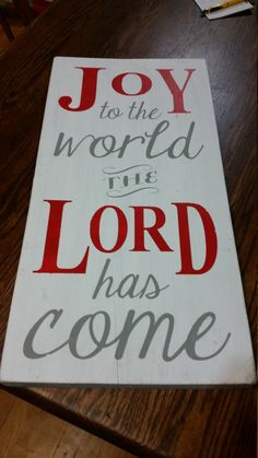 JOY to the World decal in two colors or stencil to fit 11 x 22 board or window by vinylexpress on Etsy