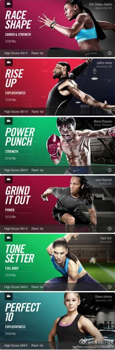 Action, Sports, Adrenaline fueled imagery, Dynamic poses split layouts.