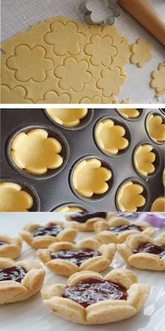 les fleures Cookie Desserts, Dessert Recipes, Kitchen Recipes, Cooking Recipes, Pasta, Cookies, Finger Foods, Yogurt, Catering