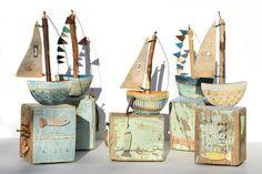 Sail Boat No. 3 - Shirley Vauvelle - CoastalHome.co.uk: Driftwood