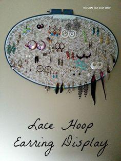 lace hoop earring di