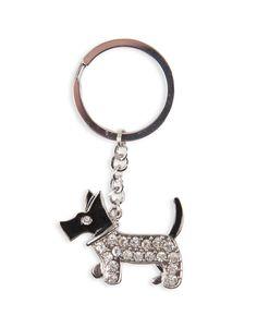 Diamanté Dog Keyring
