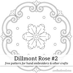 Free Hand Embroidery Pattern: Dillmont Rose #2 – NeedlenThread.com