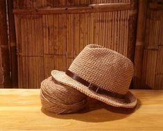 crocheted raffia straw fedora  sun hat,straw fedora hat with leather hat band,men's straw sun hat,unisex panama fedora sun hat