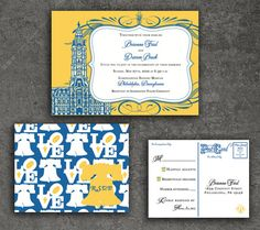 Philadelphia Wedding Invitation Save the Date by shadowboxerink, $3.75