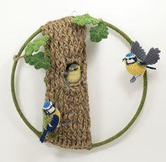 Crocheted art by Jose Heroys