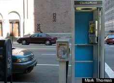 Clark & Kent open ad agency in a phone booth in NYC - shows how a well executed idea can become viral