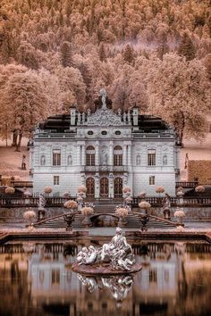 At the Schloss Linderhof Castle in Germany.
