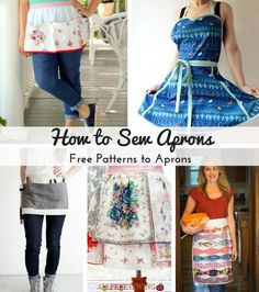 How to Sew Aprons: 42 Free Patterns for Aprons | AllFreeSewing.com